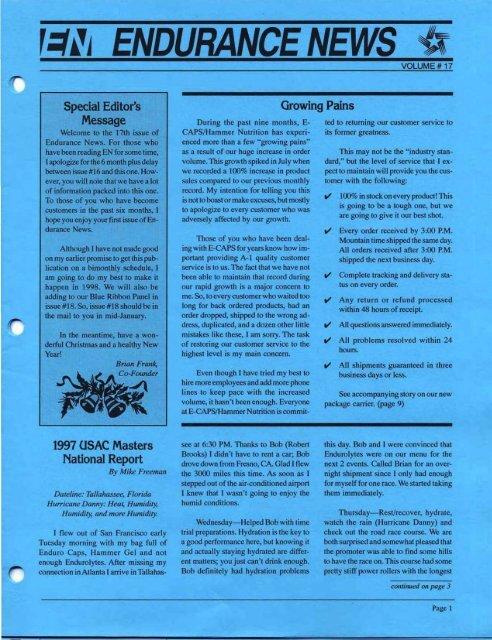 SpecIalEdItoJ1 NationalReport - Hammer Nutrition