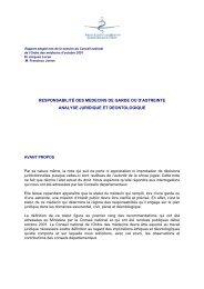 Intégralité du rapport sur la responsabilité des médecins de garde ...