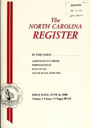 NC Register Volume 1 Issue 03 - Office of Administrative Hearings