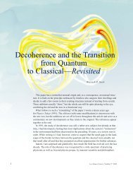 Decoherence and the Transition from Quantum to Classical ...