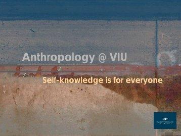 Anthropology @ Malaspina - Vancouver Island University
