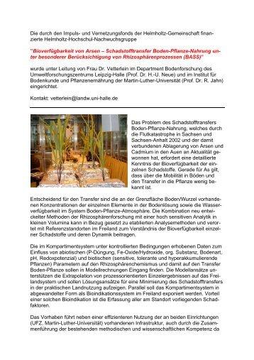 Bioverfügbarkeit von Arsen - Martin-Luther-Universität Halle ...