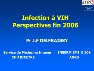 Infection à VIH Perspectives fin 2006 - ReMeD