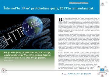"""İnternet'te """"IPv6"""" protokolüne geçiş, 2013'te ... - Bilişim Dergisi"""