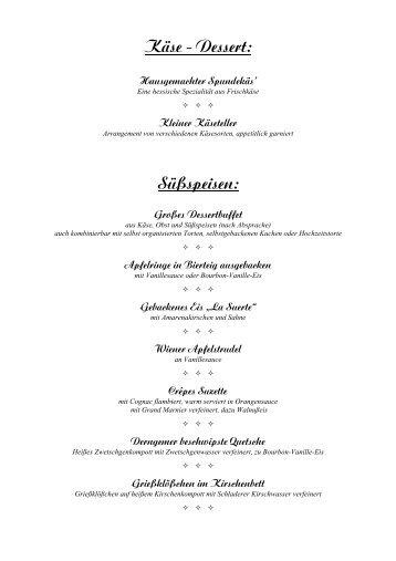 """Käse - Dessert: Hausgemachter Spundekäs - Hotel """"Zur Mainlust"""""""