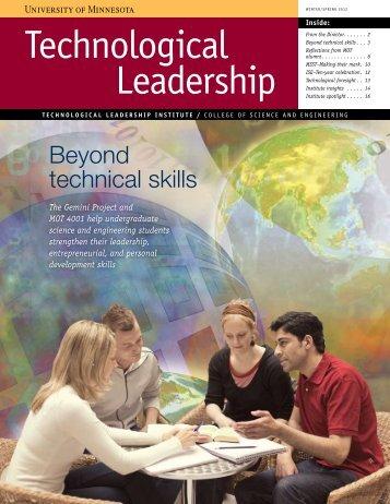 Winter/Spring 2012 - Technological Leadership Institute - University ...