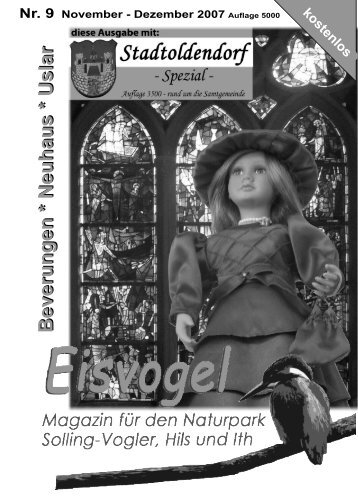 Eisvogel - 2. Jahrgang, Ausgabe 9, November-Dezember 2007