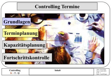 l Controlling Termine - Terminplanung - Rz.fh-augsburg.de