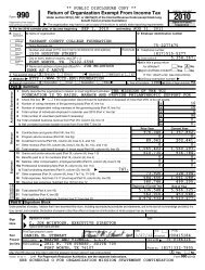 Return of Organization Exempt From Income Tax - Tarrant County ...