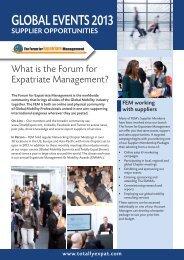 2013/14 Media Pack - Forum for Expatriate Management