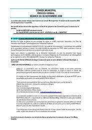 procès verbal du 20 novembre 2009 - Montreuil-Bellay