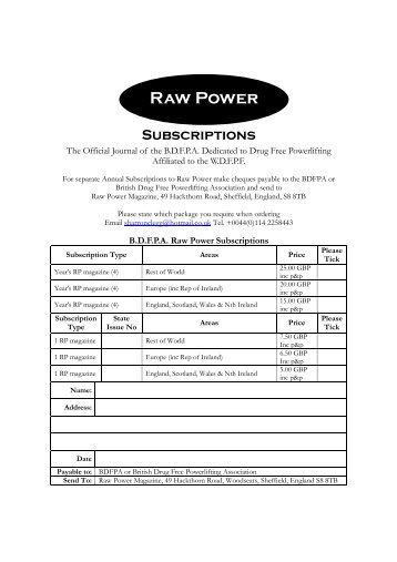 Raw Power - bdfpa