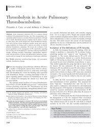 Thrombolysis in Acute Pulmonary Thromboembolism - Southern ...