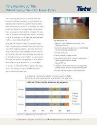 Tate Hardwood Tile - Tate Access Floors
