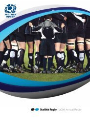 Scottish Rugby annual report 2008/09 - Scottish Rugby Union