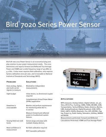 Bird 7020 Series Power Sensor - HYTEM
