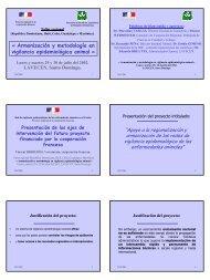 Armonización y metodología en vigilancia epidemiológica ... - Caribvet