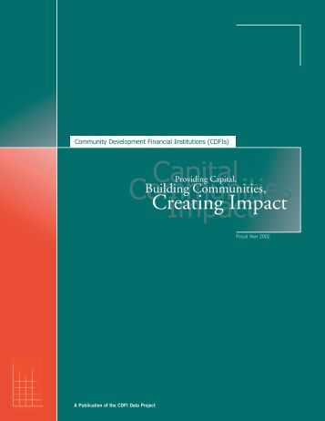 Community Development Financial Institutions (CDFIs) - Field