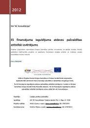 Eksperta izvērtējums par ES finansējuma ieguldījuma atdevi ...