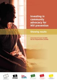 Investing in community advocacy for HIV prevention - icaso
