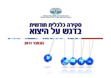 Monthly Macro Economic Review - Nov 11 - מכון היצוא הישראלי