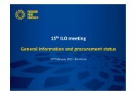 General Information and procurement status - Iter Industry