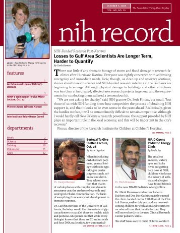 printer friendly version - The NIH Record - National Institutes of Health