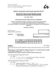 Klausur WS07/08 Bachelor - Automaten und Formale Sprachen - TU ...