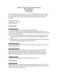 June 2004 - Southwest Virginia Hunter/Jumper Association
