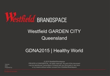 Garden-City-Healthy - Westfield Pop-Up