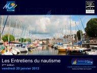 Les Entretiens du nautisme - Conseil général du Morbihan
