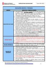 Instrucciones escolarización Curso 2011-2012 1 ... - Navarra