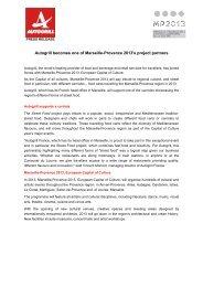 Download the press release (PDF) - Marseille Provence 2013