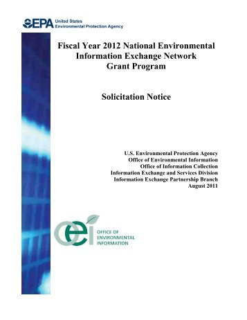 Fiscal Year 2012 National Environmental Information Exchange ...