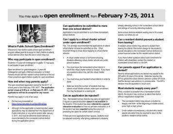 2011-12 Open Enrollment Brochure - Cuba City School District