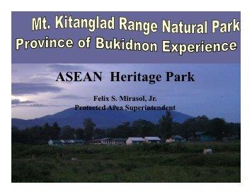 Mt. Kitanglad Range Natural Park - Rainforestation