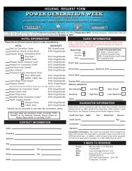 Hotel Reservation Form (pdf) - POWER-GEN International