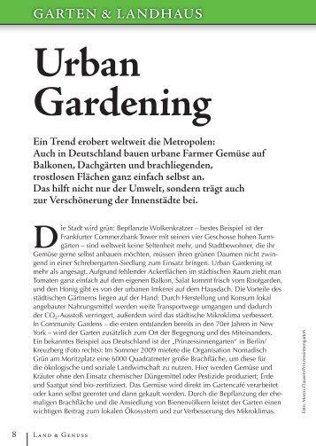 Urban Gardening - Land & Genuss