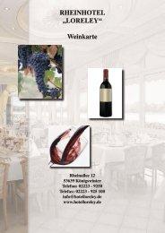 Weinkarte Rheinhotel Loreley  (PDF)