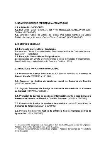 Curriculum vitae _resumido - Ministério Público do Paraná - Estado ...