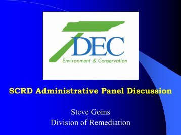 Download 92K/6 pp/PDF - State Coalition for Remediation of ...