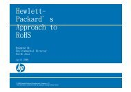 Hewlett- Packard's A h t Approach to RoHS