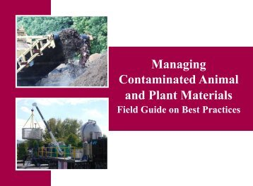 Managing Contaminated Animal and Plant Materials: Field Guide on ...