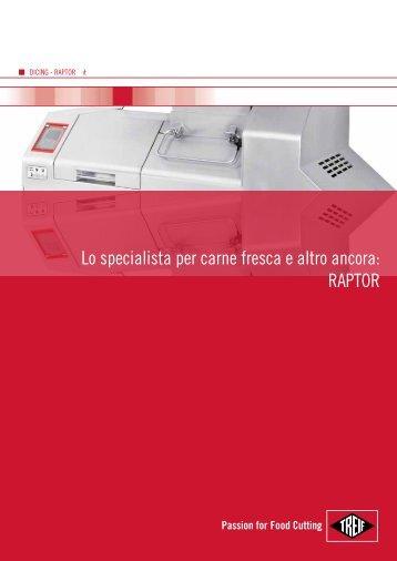 Lo specialista per carne fresca e altro ancora: RAPTOR - Treif