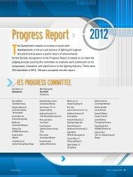 2012 Progress Report - Illuminating Engineering Society