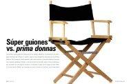 Súper guiones vs. prima donnas - diasiete.com