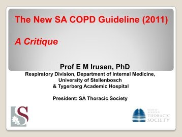 The New SA COPD Guideline