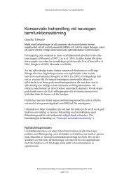 Konservativ behandling vid neurogen tarmfunktionsstörning - BLF