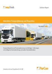 Interaktive Transportplanung und Disposition - ParCon Consulting