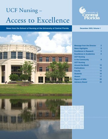 Access to Excellence - College of Health and Public Affairs ...